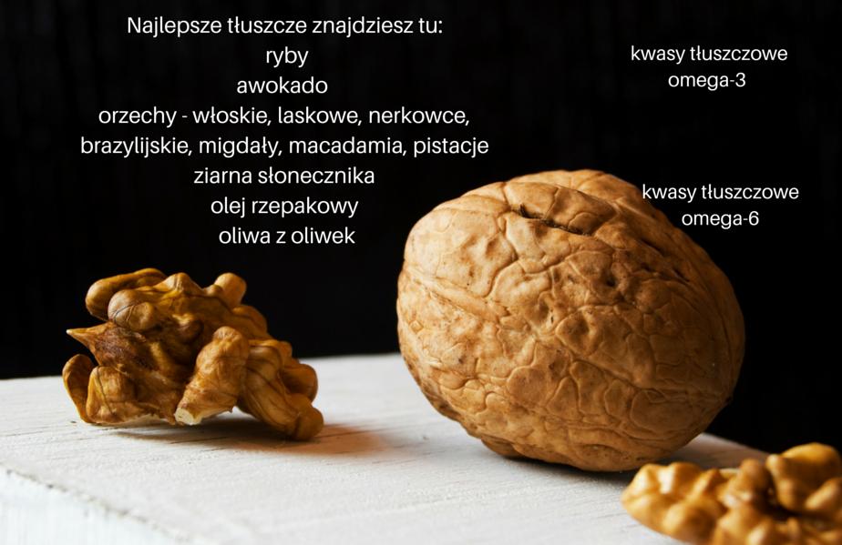 Najlepsze tłuszcze- ryby, awokado, orzechy, ziarna słonecznika, olej rzepakowy, oliwa z oliwek
