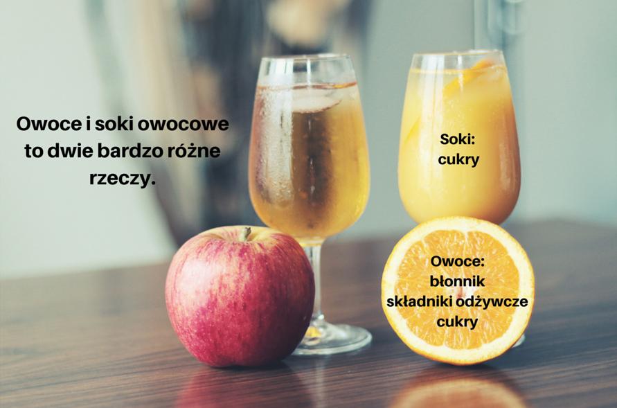 owoce i soki owocowe to dwie bardzo różne rzeczy